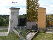 Sloupy na hřbitovní zdi 2015